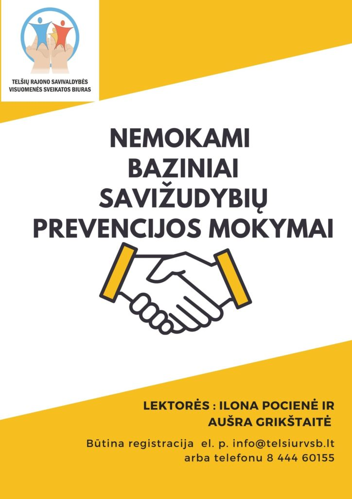 Nemokami baziniai savižudybių prevencijos mokymai