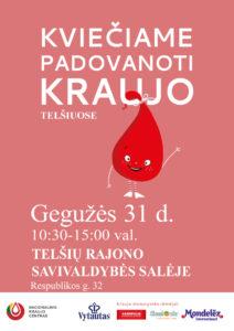 Kviečiame padovanoti kraujo Telšiuose